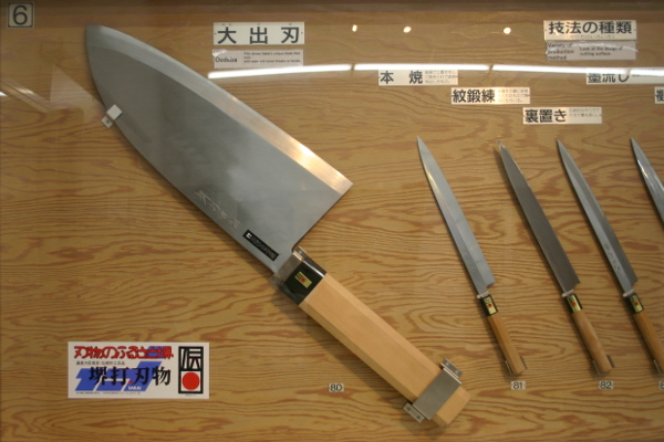 Traditional knives made in Sakai are said to be used by 90% of chefs in Japan