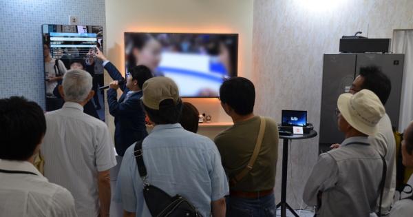 放映情報をミラーテレビに表示するデモ