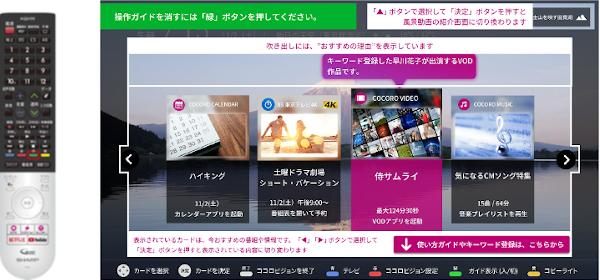 「操作ガイド」を表示したトップ画面