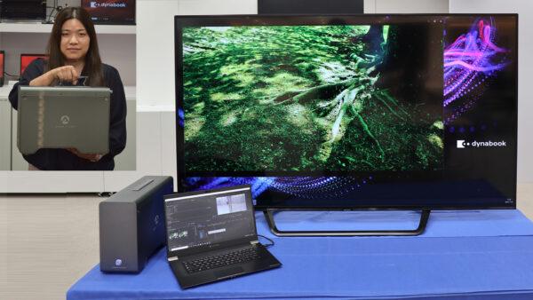 『AQUOS 8K』とGPU BOXを接続して8K映像を表示