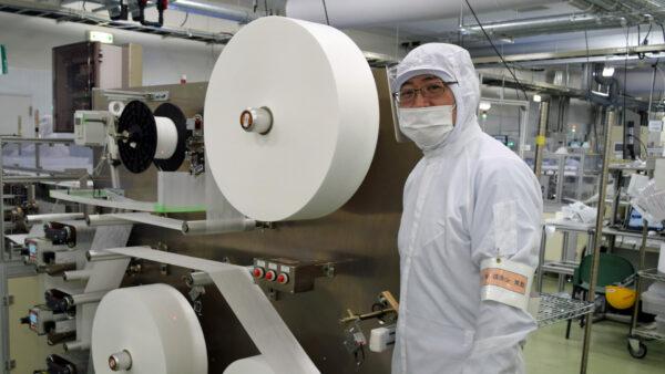 シャープ三重工場 マスク生産ライン