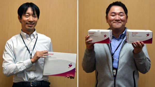 左:仕様書の作成などを担当した宮村さん 右:出荷管理担当の石田さん