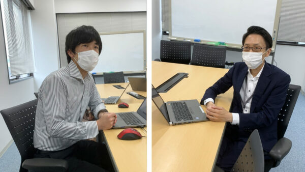 左より、「かんたんテレワーク」開発担当 高山さん 商品企画の小川さん