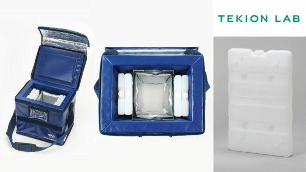 医薬品向け「定温輸送容器セット」         「3℃適温蓄冷材」