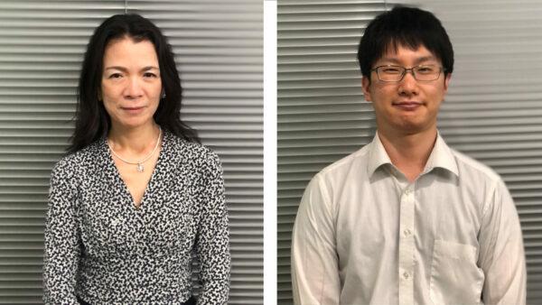 左より 社内ベンチャー「TEKION LAB」代表 内海 夕香、「適温蓄冷材」開発担当 池田 有佑