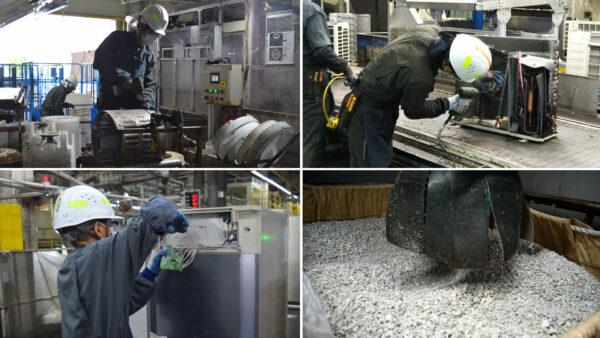 家電リサイクル工場の様子ご紹介メイン画像